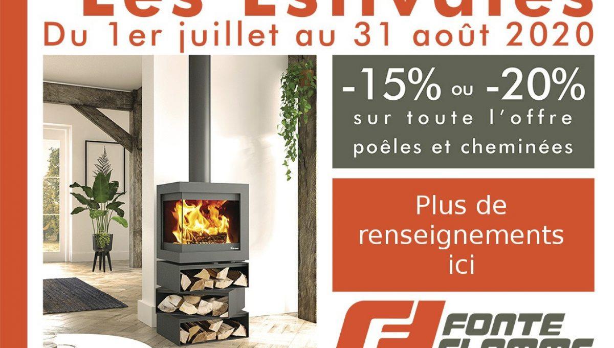 Promotions Fonte Flamme : Les Estivales | Cheminées Viano