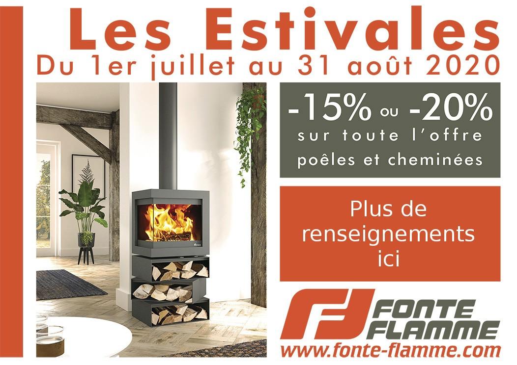 Promotions Fonte Flamme : Les Estivales   Cheminées Viano