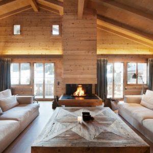 intérieur style chalet tout en bois
